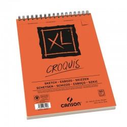 Bloc papier XL Croquis 90g/m², spirales petit côté