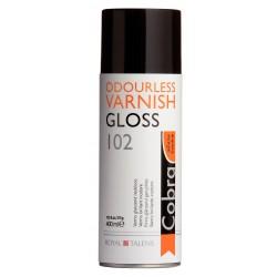 Vernis peinture à l'huile diluable à l'eau Cobra, aérosol 400ml