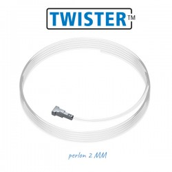 Fils perlon Twister ø2mm pour cimaise