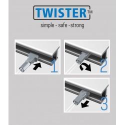 Fils en acier Twister ø2mm pour cimaise