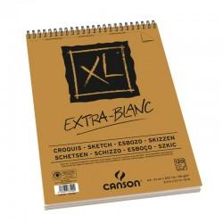 Bloc papier XL Extra-Blanc 90g/m² à spirales