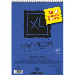 Bloc XL Mix-Média 300g/m² à spirales + feuilles gratuites