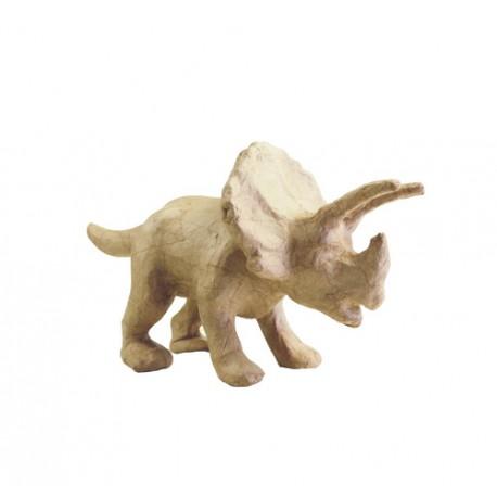Triceratops en papier maché - 29x12x15.5cm