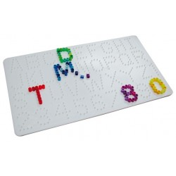 Plaque à picots Alphabet et chiffres Perlou