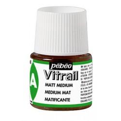 Médium mat pour peinture Vitrail, flacon 45ml