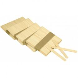 Sac de bâtonnets plats en bois - 93mm x300 pcs