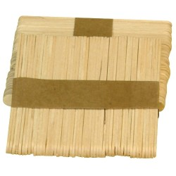 Sac de bâtonnets plats en bois - 113mm x300 pcs