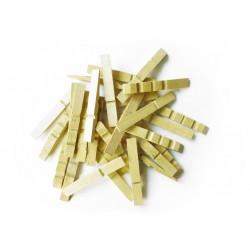 Sac de demi-pinces à linge en bois 75mm