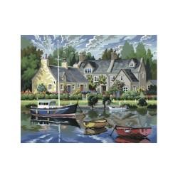 Peinture par numéros 30x40cm - Maisons bretonnes