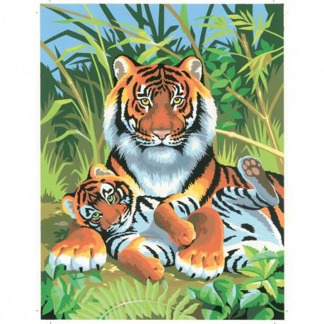 Peinture par numéros 25x30cm - Tigres
