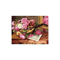 Peinture par numéros 30x40cm - Bouquet musical