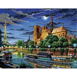 Peinture par numéros 30x40cm - Notre-Dame de Paris