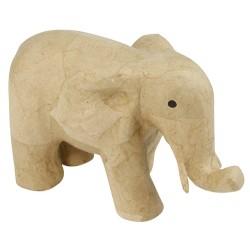 Eléphant en papier maché - 23x12x14cm