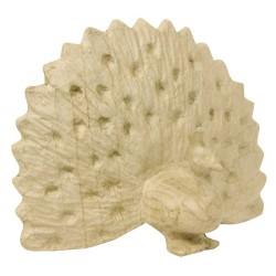 Paon en papier maché - 12.5x24x19cm