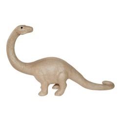Brontosaure en papier maché - 32x7x18 cm
