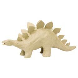 Stégosaure en papier maché - 32x9x15 cm