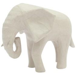 Eléphant d'Afrique en papier maché - 18,5x12,5x15,5 cm
