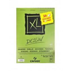 Bloc XL Dessin 160g/m² à spirales + feuilles gratuites