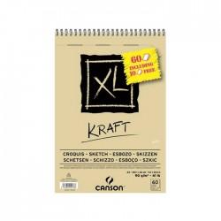 Bloc XL Kraft 90g/m² + feuilles gratuites