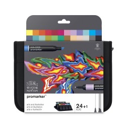 Trousse 24 feutres ProMarker - Arts et Illustration