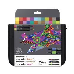Trousse 24 feutres ProMarker et ProMarker Brush assortis
