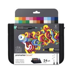 Trousse 24 feutres ProMarker Brush - Etudiant Designer