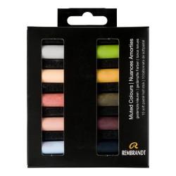 Boîtes de 10 demi-pastels tendres Rembrandt