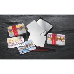 Boïte métal de 30 cartes postales aquarelle 230g/m²