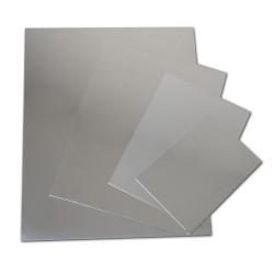 Plaques de zinc poli