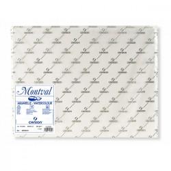 Pochette papier Montval grain fin 300 g/m² x10 fls 50x65cm