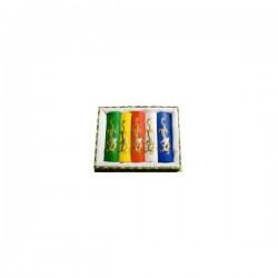 Coffret de 5 bâtons d'encre de Chine colorée