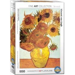 Puzzle 1000 pièces - Vase avec douze tournesols de Van Gogh