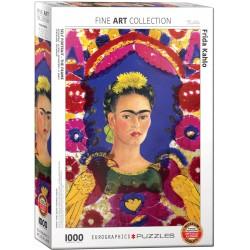 Puzzle 1000 pièces - Autoportrait - Le cadre de Kahlo