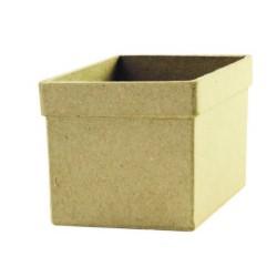 Cache-pot carré en papier mâché - 60x60x60 mm