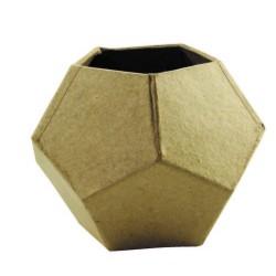 Cache-pot géométrique en papier mâché - 90x90x70 mm