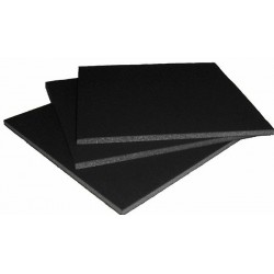 Carton mousse noir 5 mm - 100x140 cm