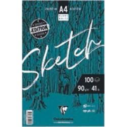 Bloc dessin Sketch 90 g/m², 100 fls spiralées A4