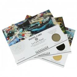 Pochettes papier Pastel Card 360g/m², 6 feuilles 30x40cm