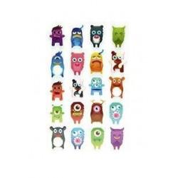 Stickers 3D Halloween - Monstres x20 autocollants