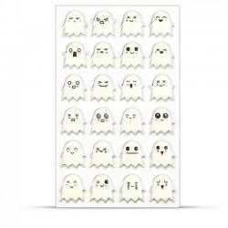 Stickers 3D Halloween - Fantômes x24 autocollants