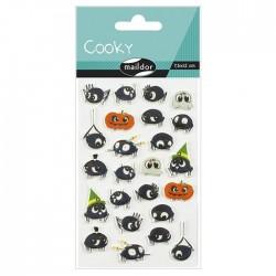 Stickers 3D Halloween - Araignées x24 autocollants