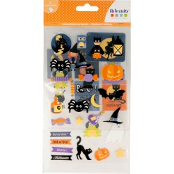 Planches de stickers cartonnés Halloween x3pcs