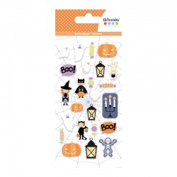 Stickers relief Puffies - Halloween déguisements