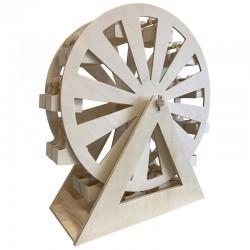 Calendrier de l'Avent grande roue avec 24 paniers 53x57x20cm