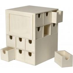 Calendrier de l'Avent Cube - 24 tiroirs 17x17x22cm