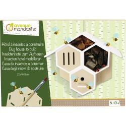 Boîte créative Hôtel à insectes en bois à construire