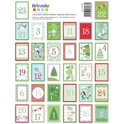Stickers timbre x64pcs - Sweet christmas