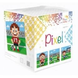 Kit Créatif Pixel cube 3 décors 4x4cm - Fan de foot