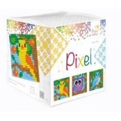 Kit Créatif Pixel cube 3 décors 4x4cm - Dans les arbres