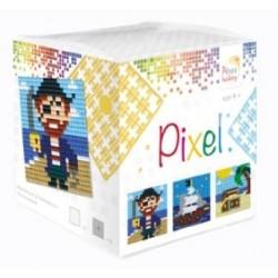 Kit Créatif Pixel cube 3 décors 4x4cm - A l'abordage